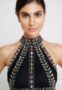 Maya Deluxe - EMBELLISHED HIGH NECK MAXI DRESS - Suknia balowa - black/multi - 5