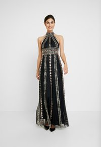 Maya Deluxe - EMBELLISHED HIGH NECK MAXI DRESS - Ballkjole - black/multi - 2