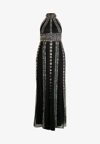 Maya Deluxe - EMBELLISHED HIGH NECK MAXI DRESS - Ballkjole - black/multi - 4
