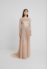 Maya Deluxe - ALL OVER MAXI DRESS WITH PLUNGE BACK - Iltapuku - taupe blush - 2
