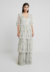 Maya Deluxe - EMBELLISHED SLEEVE TIERED MAXI DRESS - Ballkjole - soft grey