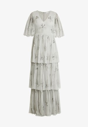 EMBELLISHED SLEEVE TIERED MAXI DRESS - Occasion wear - soft grey