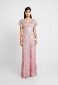 Maya Deluxe - EMBELLISHED V NECK MAXI DRESS - Vestido de fiesta - pink - 0