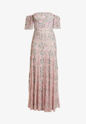 ALL OVER MAXI DRESS WITH DETAILING - Galajurk - soft pink