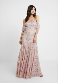 Maya Deluxe - ALL OVER MAXI DRESS WITH DETAILING - Iltapuku - soft pink - 0