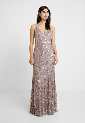 EMBELLISHED CAMI MAXI DRESS - Galajurk - dusty purple