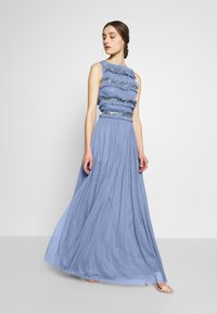 Maya Deluxe - ROUCHED SLEEVELESS MAXI DRESS - Suknia balowa - dusty blue - 1