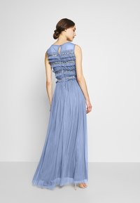 Maya Deluxe - ROUCHED SLEEVELESS MAXI DRESS - Suknia balowa - dusty blue - 2
