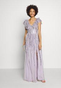 Maya Deluxe - RUFFLE SLEEVE MAXI DRESS - Suknia balowa - soft lilac - 2