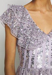 Maya Deluxe - RUFFLE SLEEVE MAXI DRESS - Suknia balowa - soft lilac - 6
