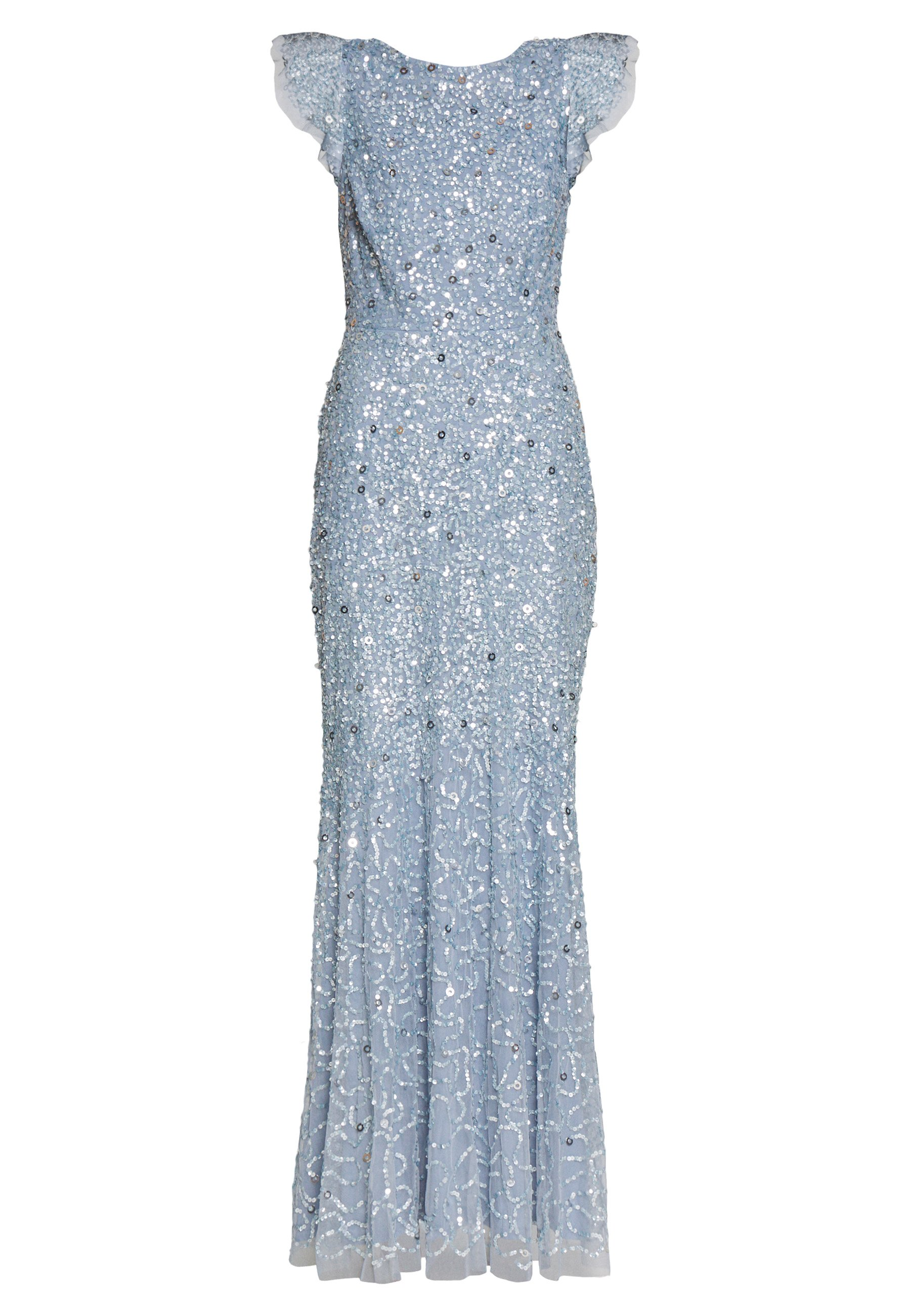Maya Deluxe DIP BACK ALL OVER SEQUIN MAXI DRESS - Suknia balowa - dusty blue