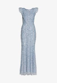 Maya Deluxe - DIP BACK ALL OVER SEQUIN MAXI DRESS - Galajurk - dusty blue - 5