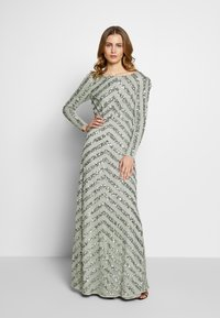 Maya Deluxe - BOAT NECK STRIPE MAXI DRESS - Galajurk - green - 1
