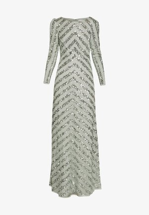 BOAT NECK STRIPE MAXI DRESS - Occasion wear - green