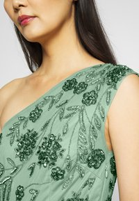 Maya Deluxe - ONE SHOULDER EMBELLISHED MAXI DRESS - Occasion wear - green - 4