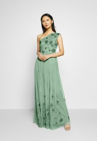 Maya Deluxe - ONE SHOULDER EMBELLISHED MAXI DRESS - Occasion wear - green - 0