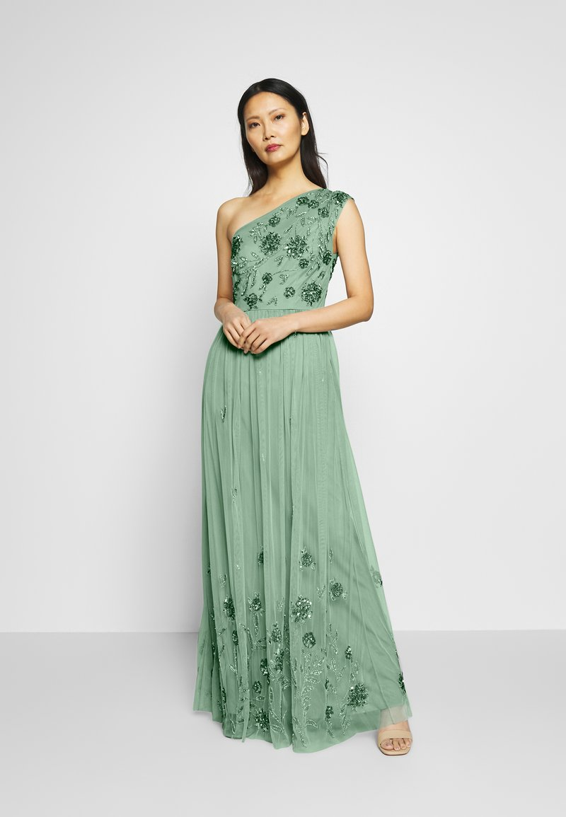 Maya Deluxe - ONE SHOULDER EMBELLISHED MAXI DRESS - Occasion wear - green
