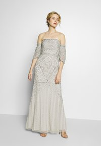 Maya Deluxe - OFF SHOULDER DRAPE SLEEVE EMEBELLISHED MAXI DRESS - Occasion wear - grey - 1