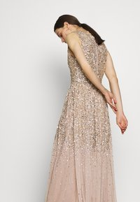 Maya Deluxe - EMBELLISHED NECK MAXI DRESS - Suknia balowa - gold - 5