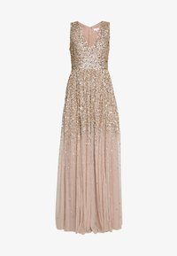 Maya Deluxe - EMBELLISHED NECK MAXI DRESS - Suknia balowa - gold - 6