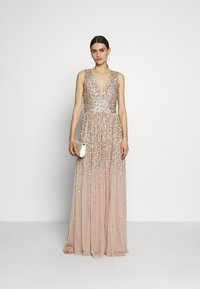 Maya Deluxe - EMBELLISHED NECK MAXI DRESS - Suknia balowa - gold - 2