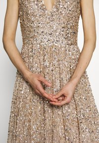 Maya Deluxe - EMBELLISHED NECK MAXI DRESS - Occasion wear - gold - 7