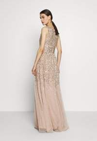 Maya Deluxe - EMBELLISHED NECK MAXI DRESS - Suknia balowa - gold - 3