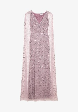 WRAP MAXI DRESS WITH CAPE DETAIL - Galajurk - lilac