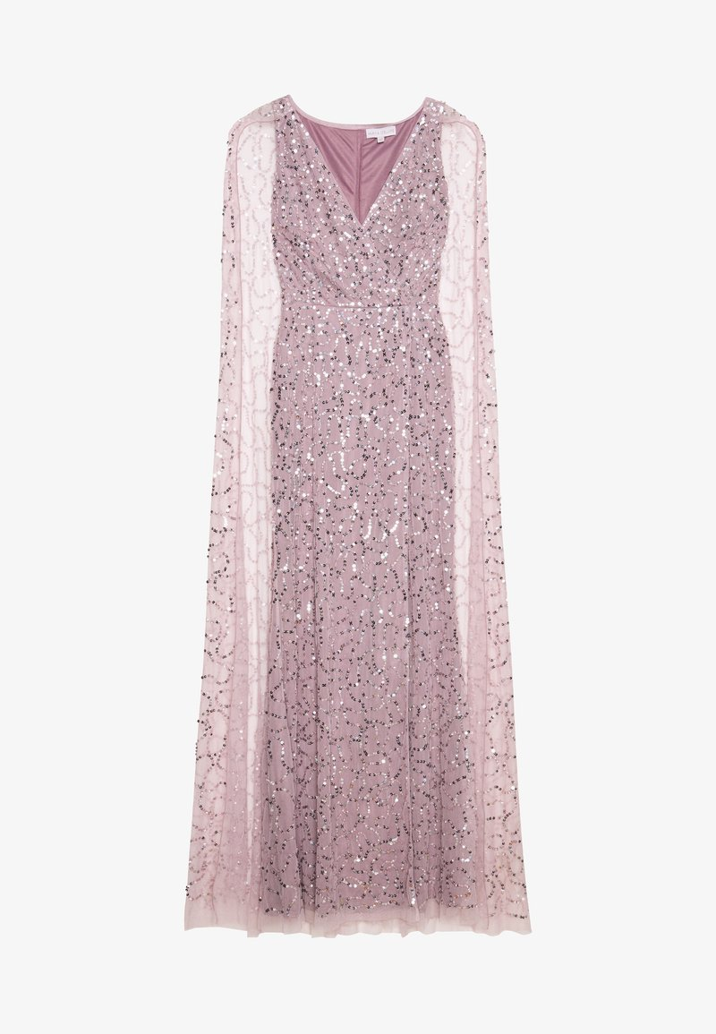 Maya Deluxe - WRAP MAXI DRESS WITH CAPE DETAIL - Ballkjole - lilac
