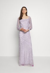Maya Deluxe - OFF SHOULDER LONG SLEEVE MAXI DRESS WITH EMBELLISHMENT - Galajurk - soft lilac - 0