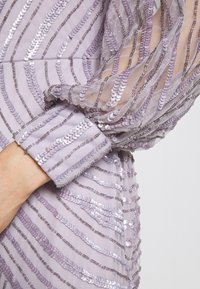 Maya Deluxe - OFF SHOULDER LONG SLEEVE MAXI DRESS WITH EMBELLISHMENT - Galajurk - soft lilac - 6