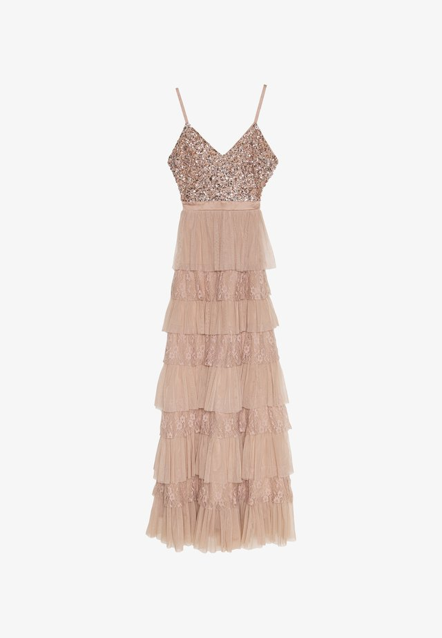 CAMI TIERED MAXI DRESS WITH DETAIL - Occasion wear - taupe blush