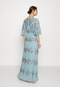 Maya Deluxe - WRAP FRONT ALL OVER EMBELLISHED CAPE MAXI DRESS - Vestido de fiesta - blue - 2