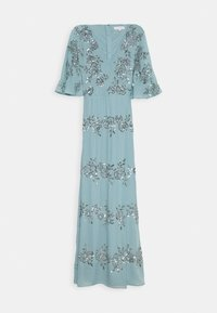 Maya Deluxe - WRAP FRONT ALL OVER EMBELLISHED CAPE MAXI DRESS - Vestido de fiesta - blue - 3