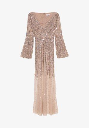 EMBELLISHED V NECK MAXI DRESS - Společenské šaty - taupe blush