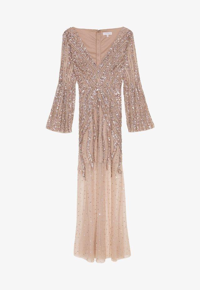 EMBELLISHED V NECK MAXI DRESS - Occasion wear - taupe blush