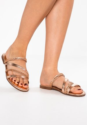 Pantofle - rose metallic