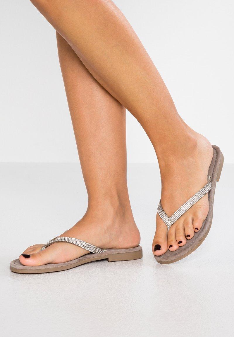 Marco Tozzi - T-bar sandals - silver