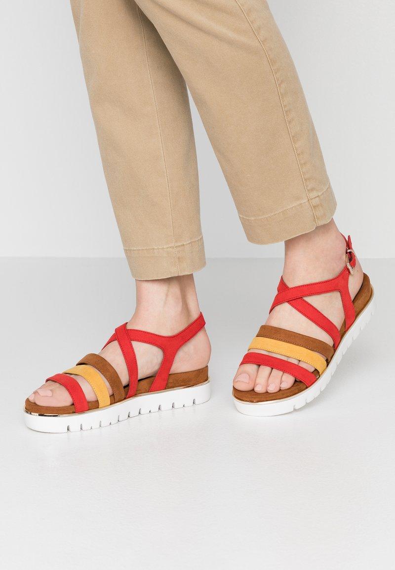 Marco Tozzi - Wedge sandals - chili