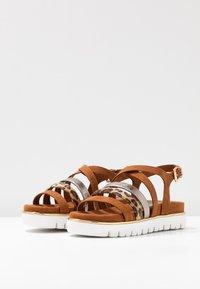 Marco Tozzi - Wedge sandals - cognac - 4