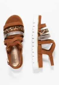 Marco Tozzi - Wedge sandals - cognac - 3