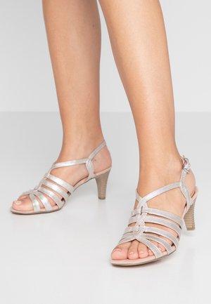 Sandały - rose metallic