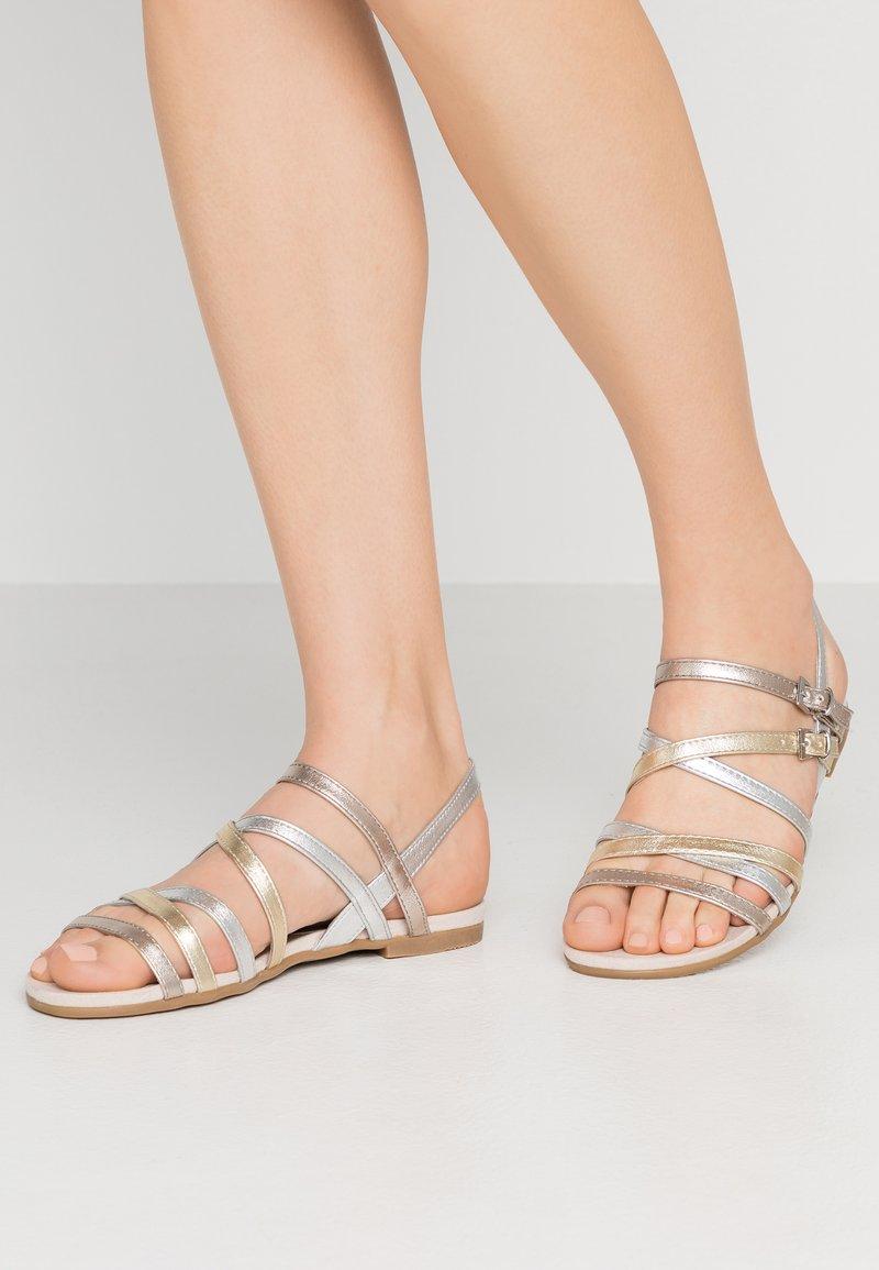 Marco Tozzi - Sandals - metallic multicolor