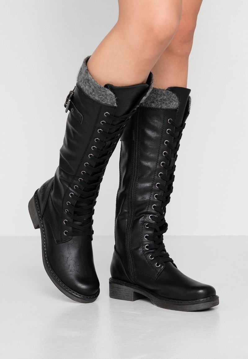 Marco Tozzi - Lace-up boots - black antic