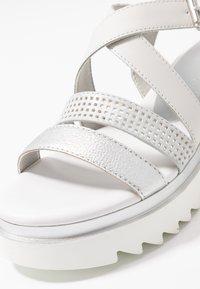Marco Tozzi - Platform sandals - white - 2