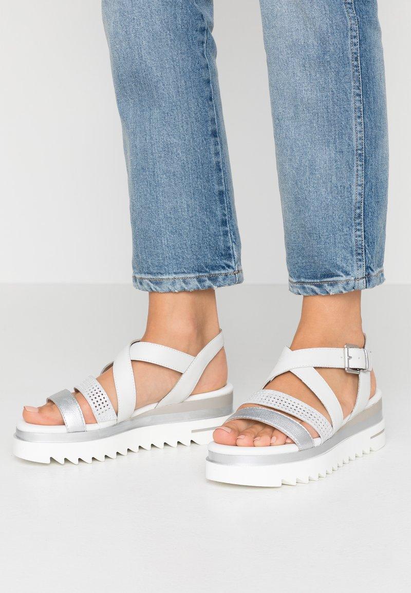 Marco Tozzi - Platform sandals - white