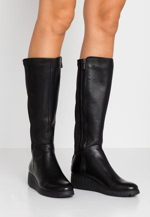 Keilstiefel - black/anthrazit