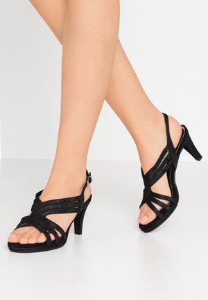 Platform sandals - black metallic