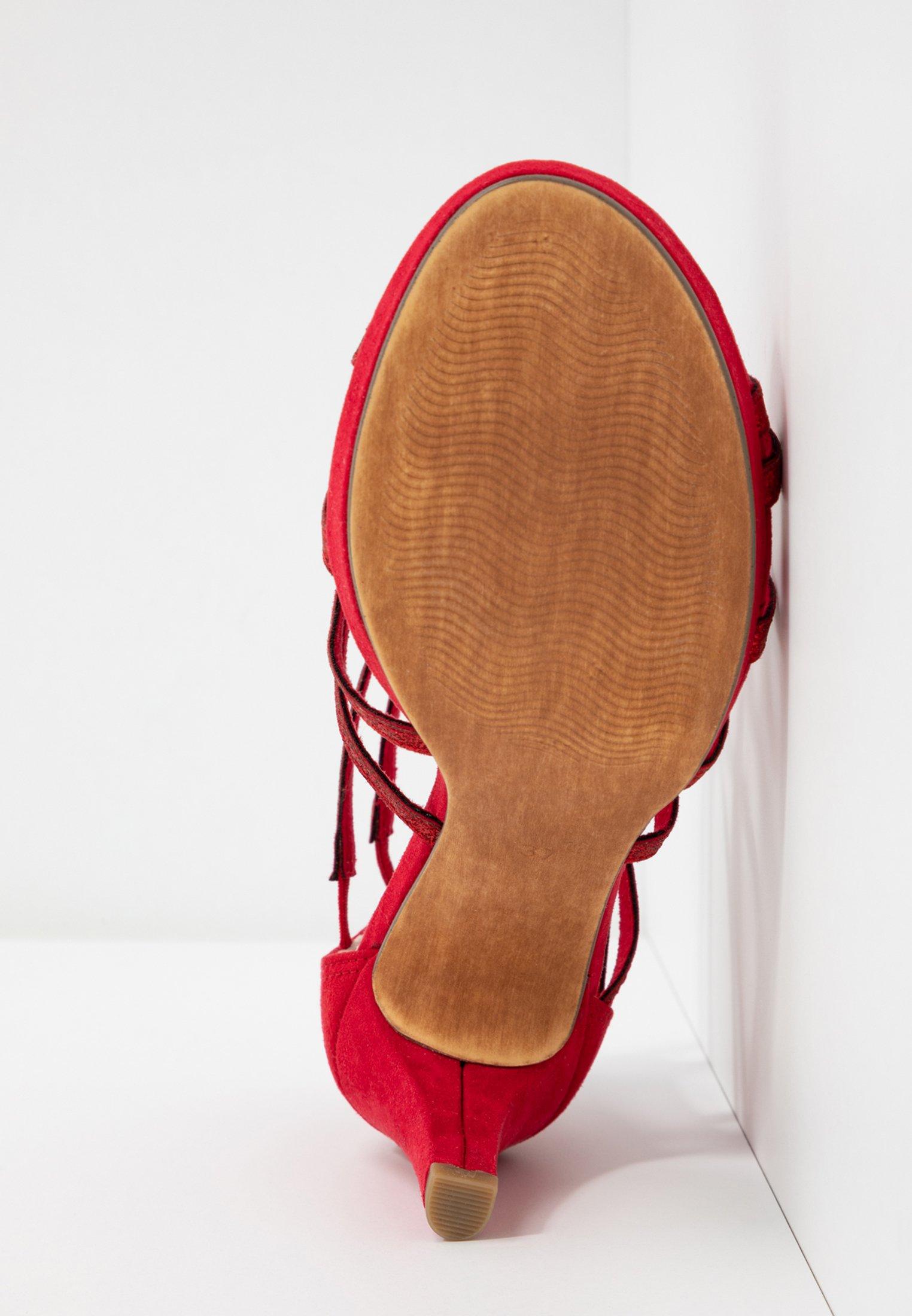 Marco Tozzi Sandaler - red
