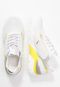 Marco Tozzi - LACE UP - Trainers - white/neon yellow - 3